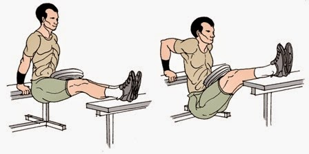 bench dips triceps