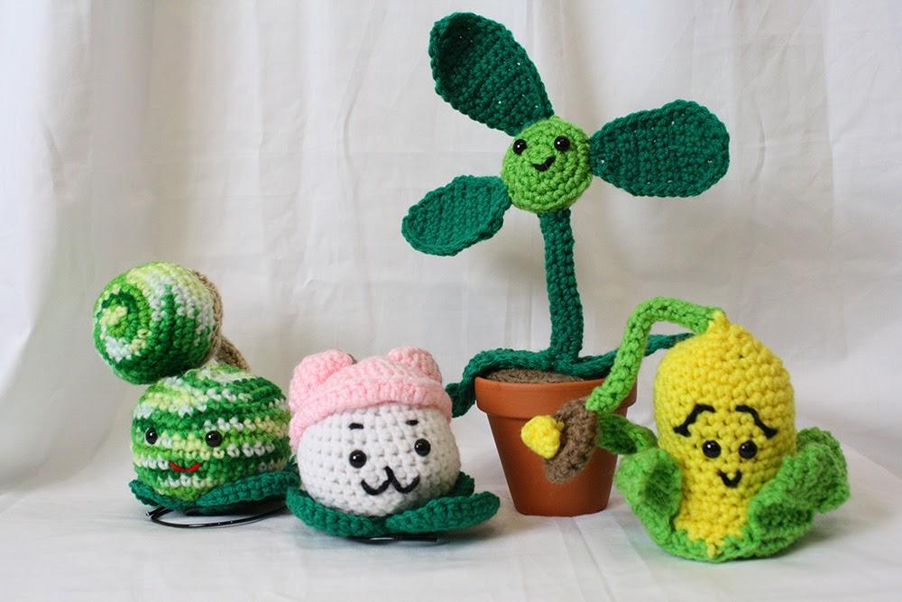 Plants Vs Zombies Amigurumis
