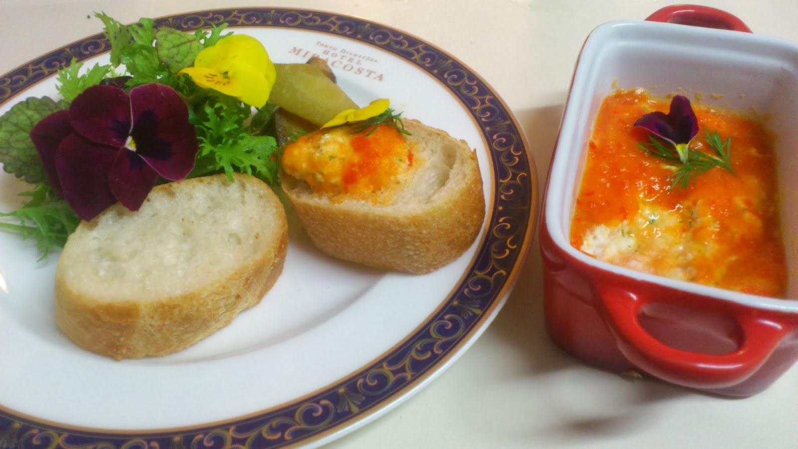 目黒区(奥沢・自由が丘)に出張シェフ:蟹とチーズのリエット〜パプリカソース〜
