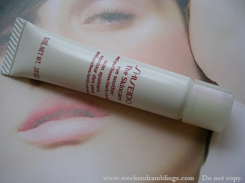 shiseido the skincare eye soother gel antipuffiness dark circles reviews