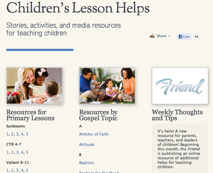 LDS Teaching Resource for Parents and Primary Teachers