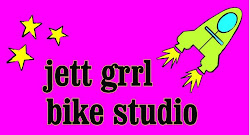 the Birds on Bikes are proudly supported by Jett Grrl Bike Studio