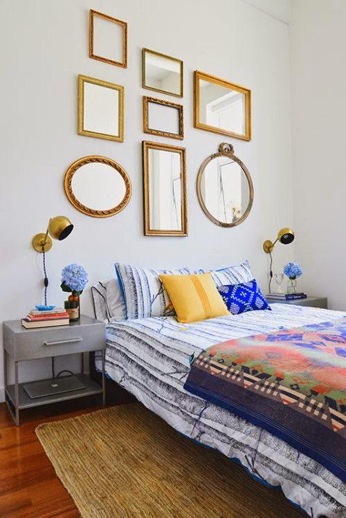 Apliques vintage en el dormitorio