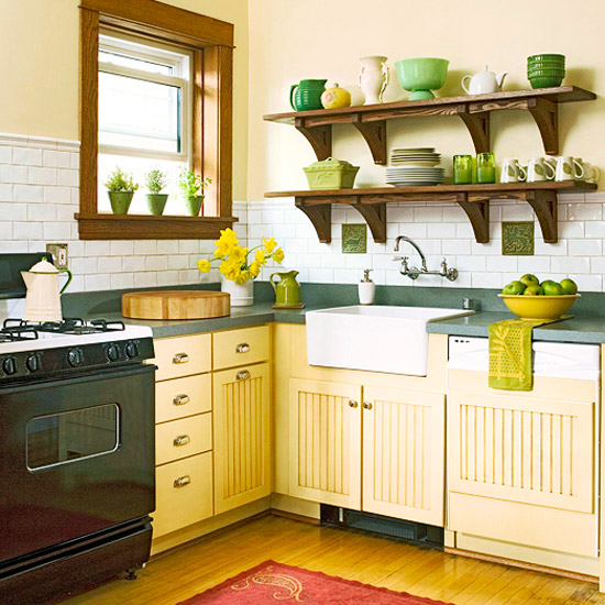 furniture traditional kitchen design ideas 2011 with yellow color