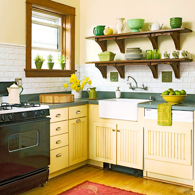 ... Furniture: Traditional Kitchen Design Ideas 2011 With Yellow Color