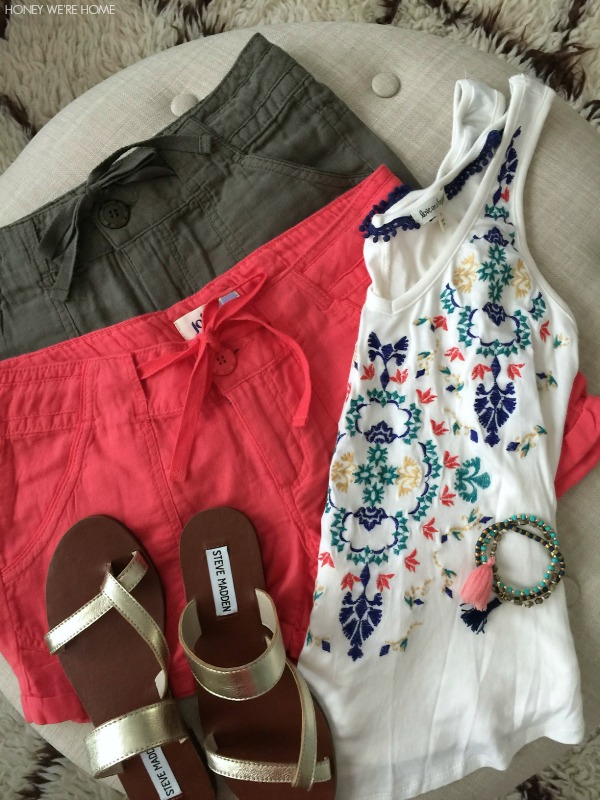 Summer Uniform - shorts, tank, sandals