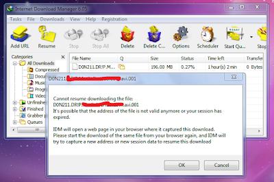 Cara Melanjutkan Download yang Gagal pada IDM