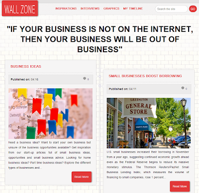 Wall Zone Blogger Template