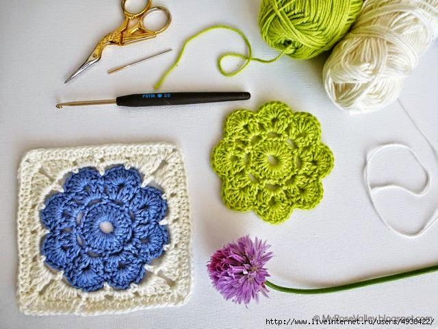 Grannys paso a paso para principiantes crochet y dos - Cuadros para principiantes ...