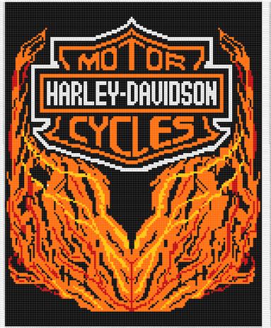 Harley-Davidson Crochet Afghan Pattern