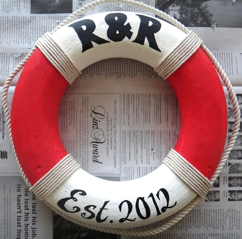 DIY nautical life preserver