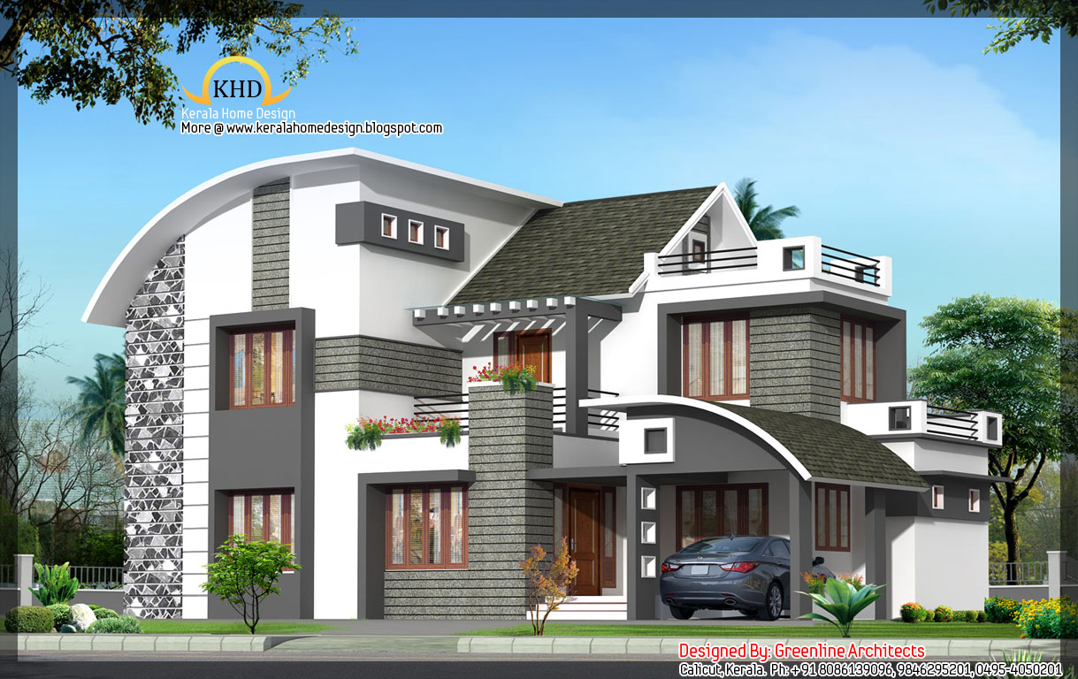 Modern contemporary home 1949 sq ft kerala home for New homes designs