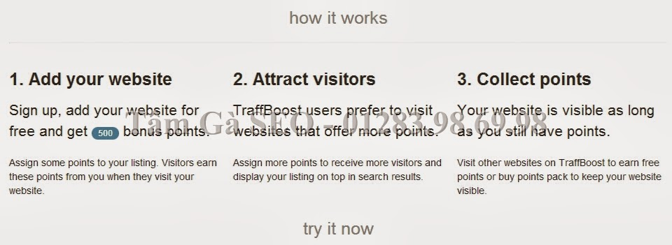 Add your website to Traffboost