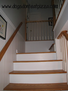 stairs at entry way - thediybungalow.com