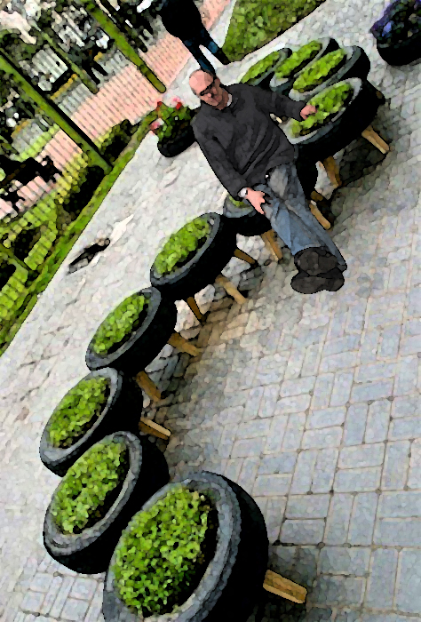 Gardening matters re using old tyres for Uses for old tyres