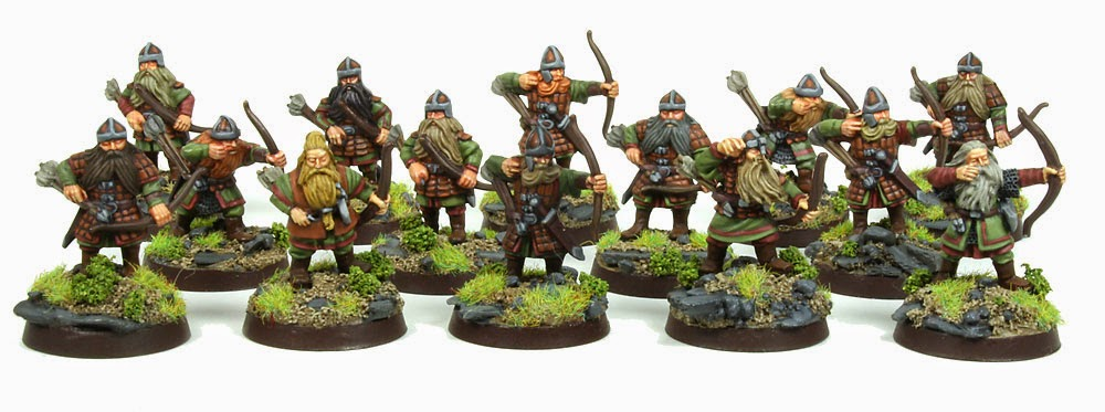 Lord of The Rings Strategy Battle Game - Dwarrf Warriors with Bows