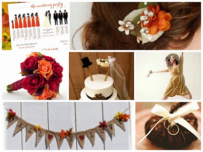 Autumn Wedding Inspiration Board, curated by Sugarplum Garters