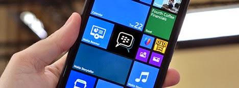 Windows Phone telah dilengkapi oleh app BBM