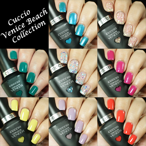 Cuccio Colour Veneer Venice Beach Collection Swatches