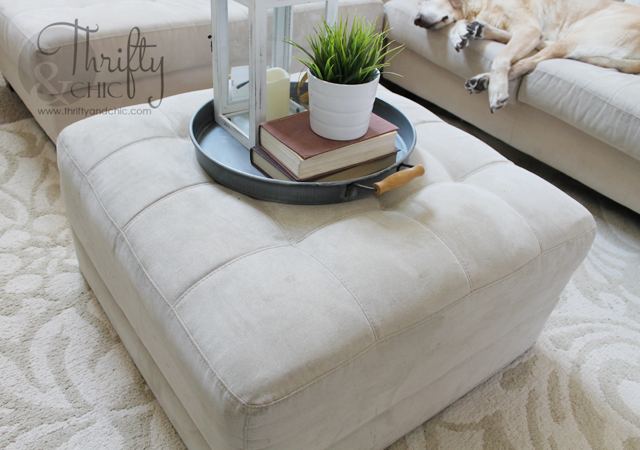 Http Www Thriftyandchic Com 2015 08 How To Make Slipcover For Ottoman Or Html