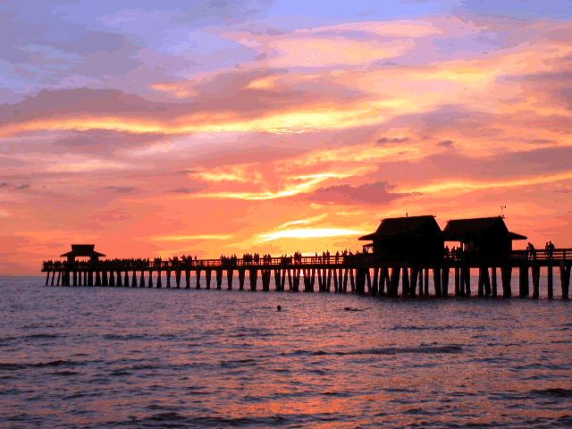 Fun Activities And Historic Landmarks on Naples Florida Pier Sunset