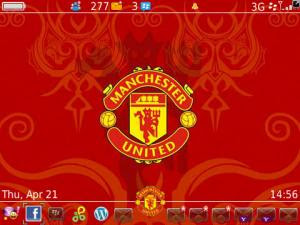 theme mu blackberry free, Theme BlackBerry Manchester United Gratis