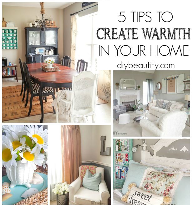 If you're looking to create a cozy home bursting with personality, you'll want to check out these 5 Top Tips for making your house feel like a Home! Read it at DIY beautify