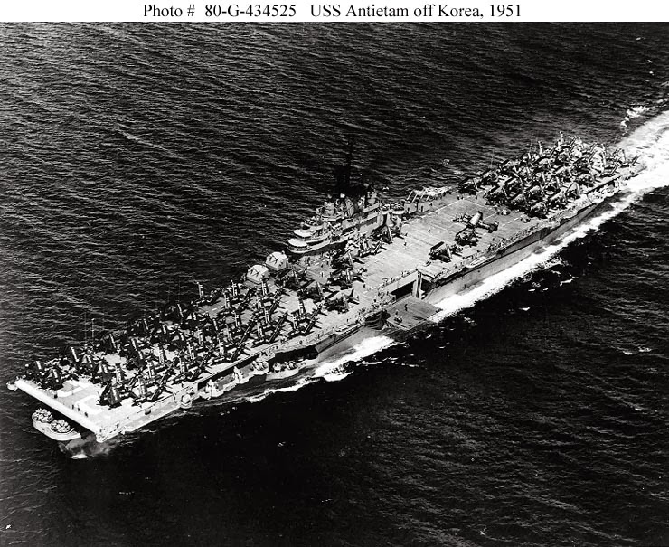 naval warfare  uss antietam  cv