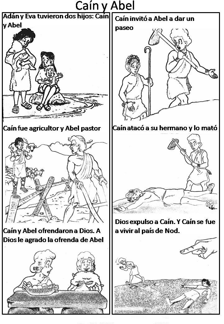 Historia De Cain Y Abel Para Colorear