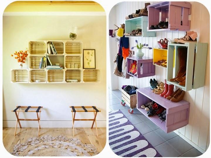 Reciclando y decorando decoraci n con huacales de madera for Madera y decoracion