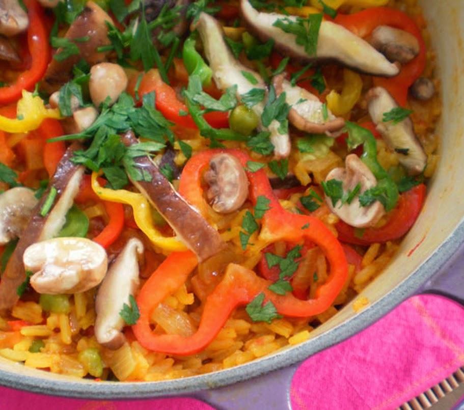 Paella de Cogumelos (vegana)