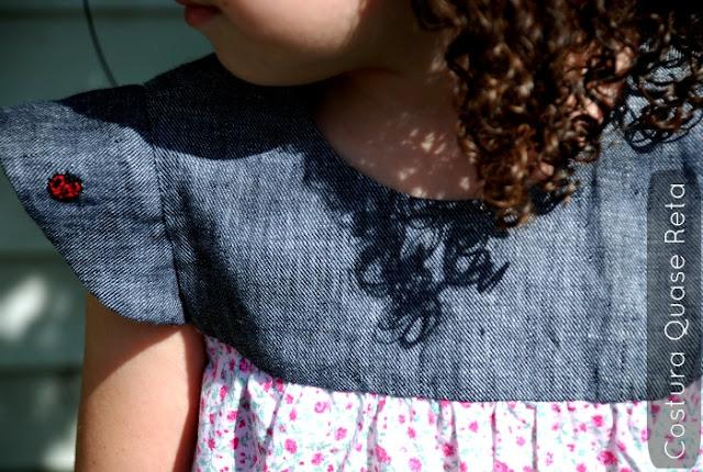 vestido retro infantil