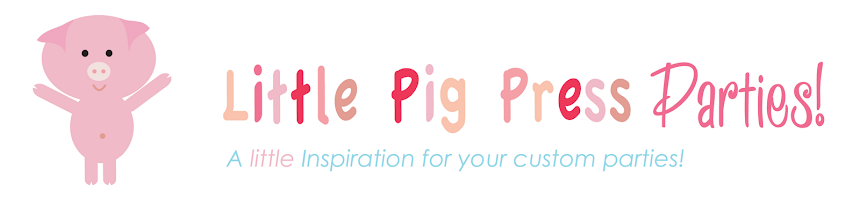 Little Pig Press Party Ideas