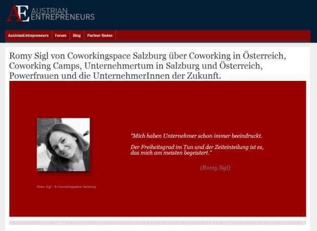 Romy Sigl von Coworkingspace Salzburg über Coworking in Österreich, Coworking Camps, Unternehmertum in Salzburg und Österreich, Powerfrauen und die UnternehmerInnen der Zukunft.