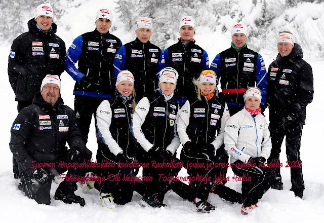 Новогоднее поздравление от финской биатлонной сборной