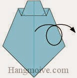 Bước 8: Lật mặt đằng sau ra đằng trước.