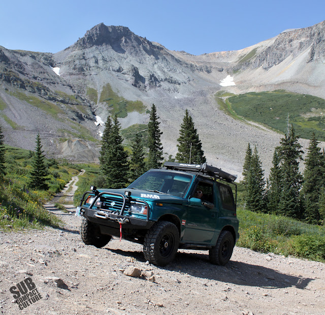 The Teal Terror headed up Imogene Pass Road