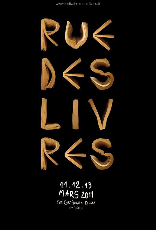 AFFICHE RUE DES LIVRES 2011