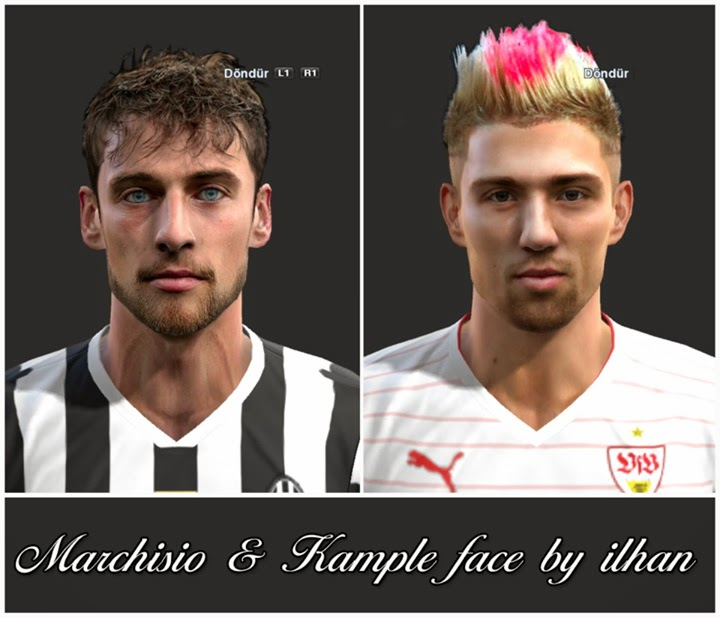 PES 2013 Marchisio & Kample Face by ilhan