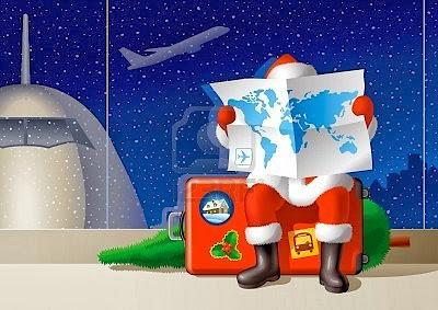 Papai Noel pronto para viajar