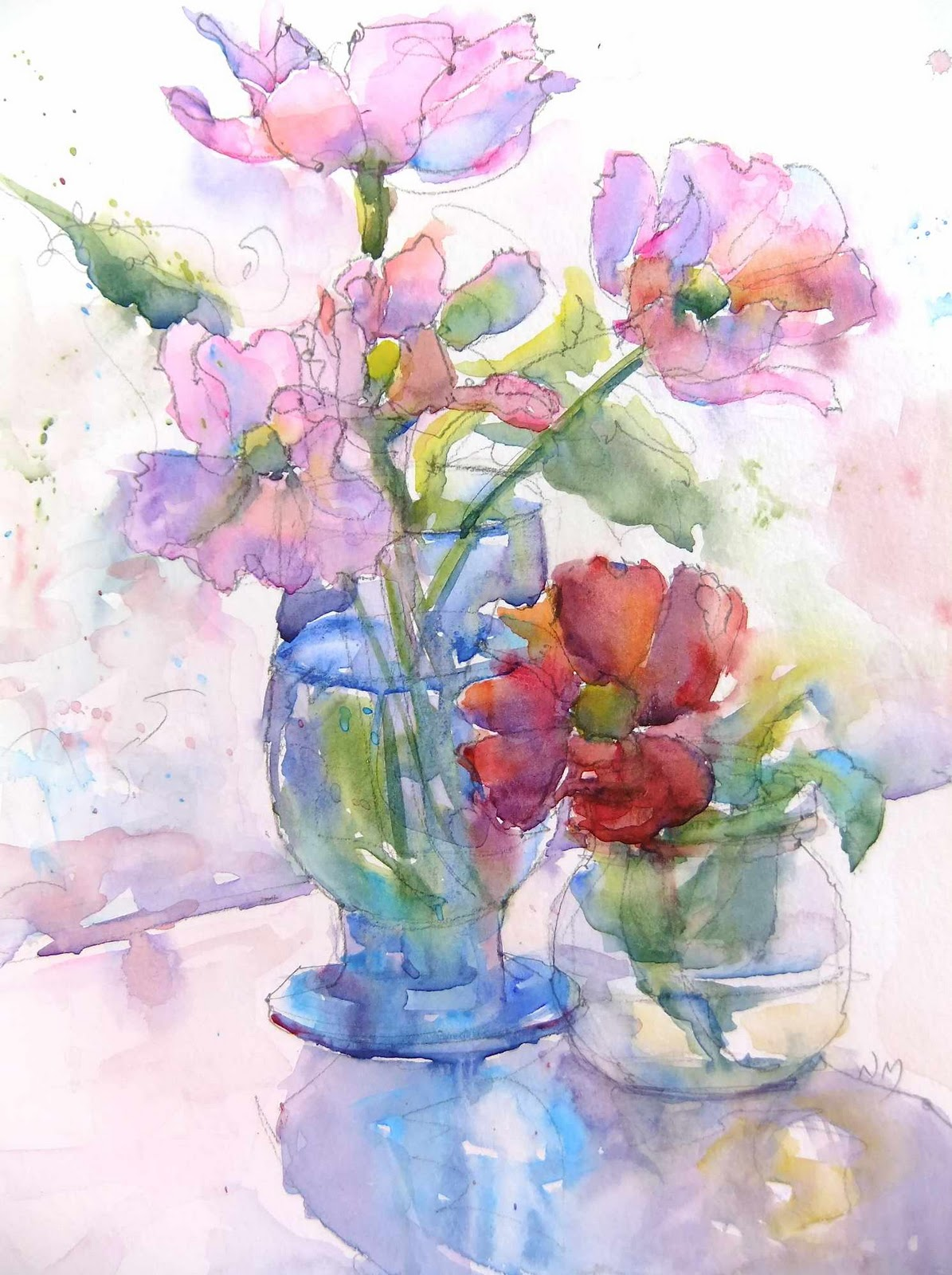 Nora macphail artist december 2011 for Watercolor painting flowers