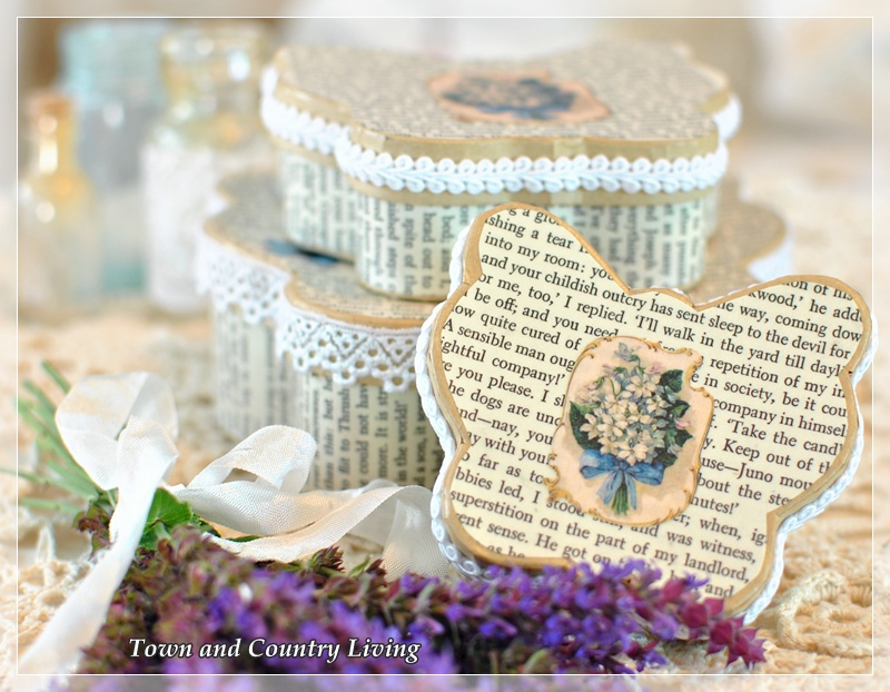 My Passion For Book Page Crafts Town Country Living