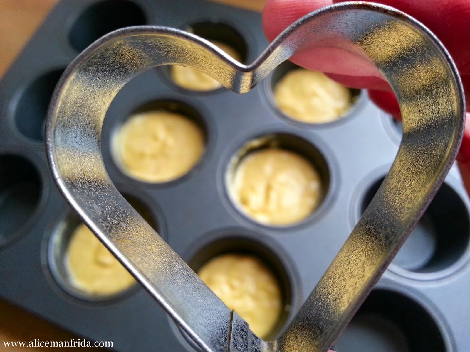 corn muffins, AliceCooks, love, Valentine's Day, baking