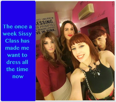 Once a week Sissy Class - Tg Captions and more - Crossdressing tales