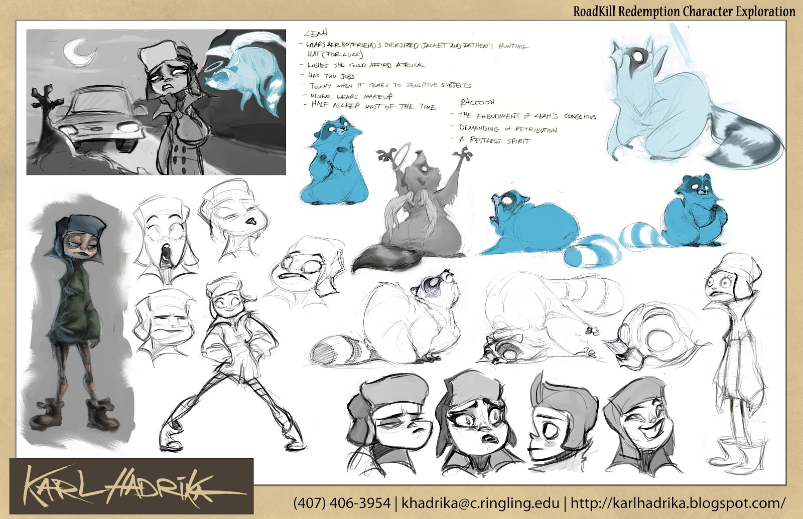 Character Design Internships : Karl hadrika s gy portfolio and reel