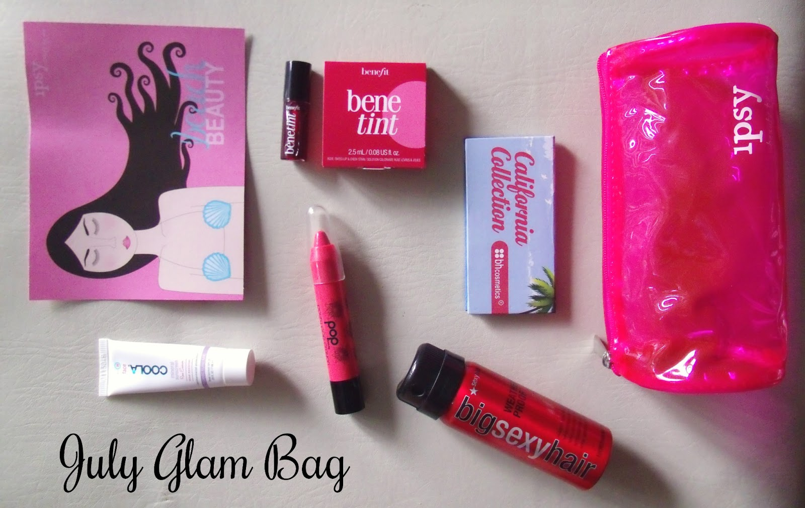 Sincerely, Sara  Style amp; Books: Ipsy Glam Bag July 2013