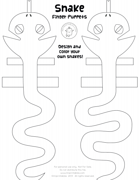 Finger Puppet Coloring Pages