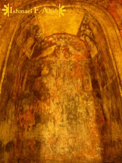 Buddhist painting in Wat Rachaburana, Ayutthaya Historical Park, Thailand