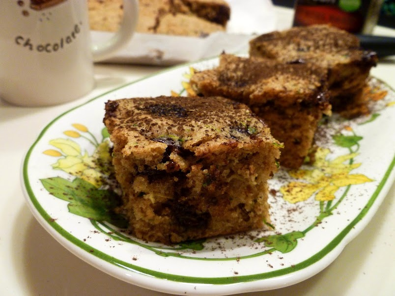 The Baking Fairy: zucchini chocolate chip snack cake