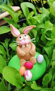 Happy Easter Bunny Shaped Card dscf